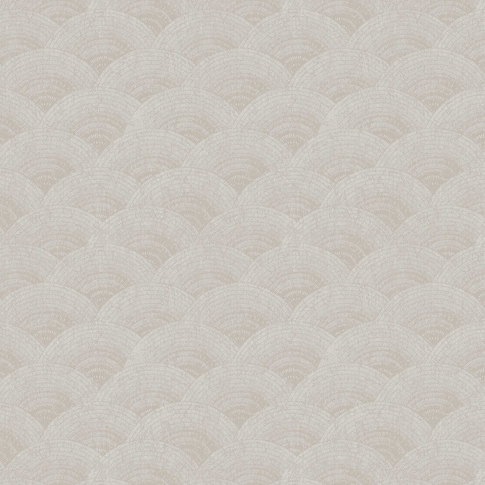 Walter Foil Wallpaper - Taupe  / Silver - by Casadeco