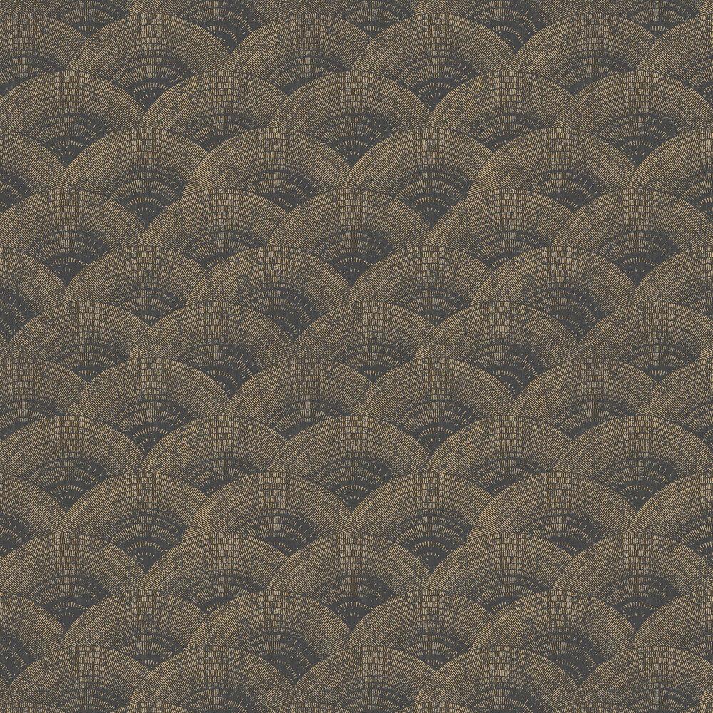 Casadeco Walter Foil Black / Gold Wallpaper - Product code: 84099515