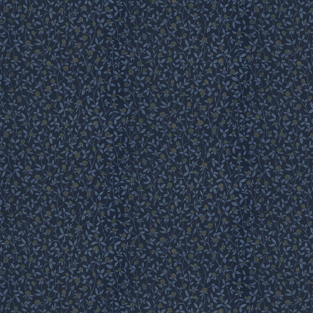 Caselio Serenity Dark Blue an Gold Wallpaper - Product code: 100566905
