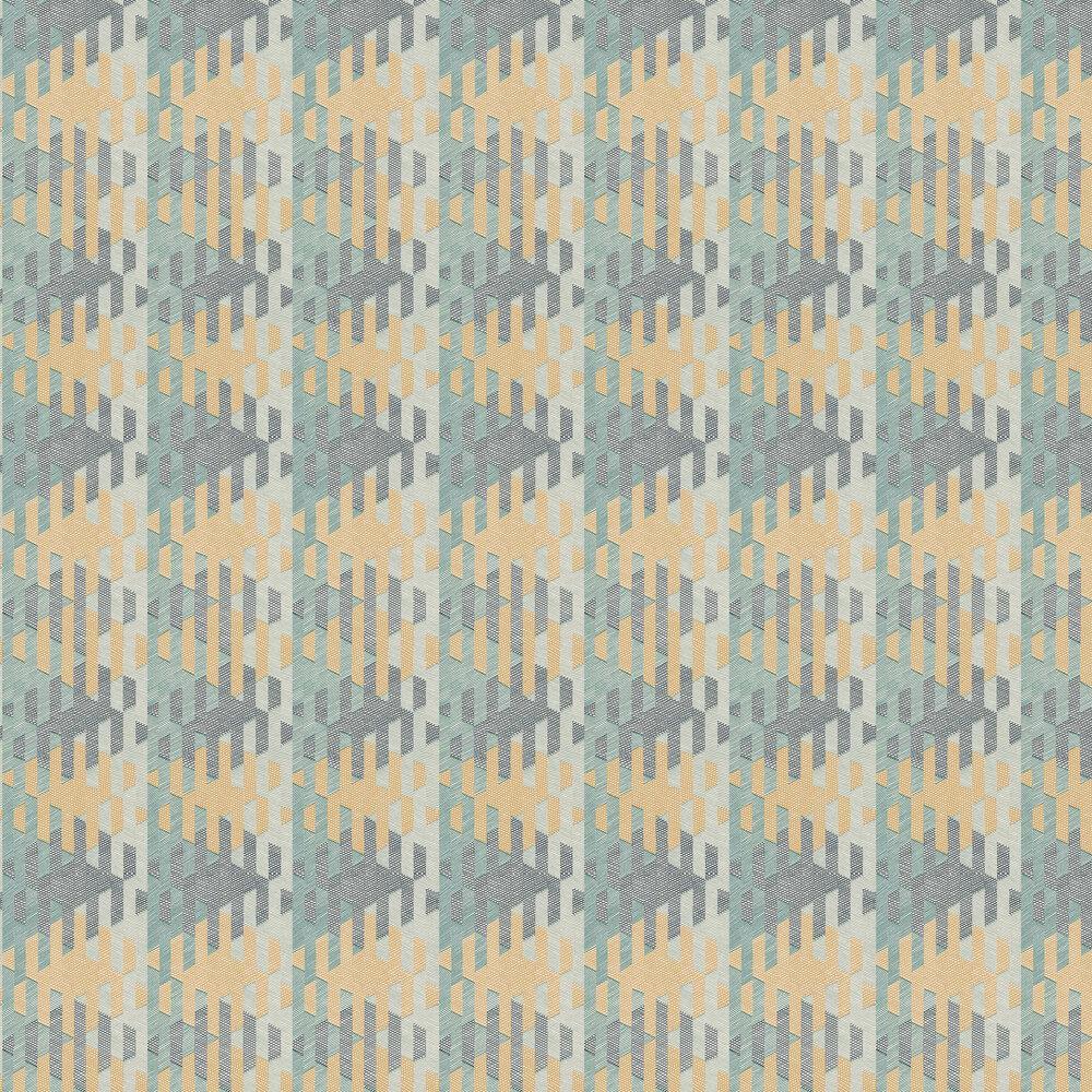 Casadeco Yana Green  / Orange Wallpaper - Product code: 84167428