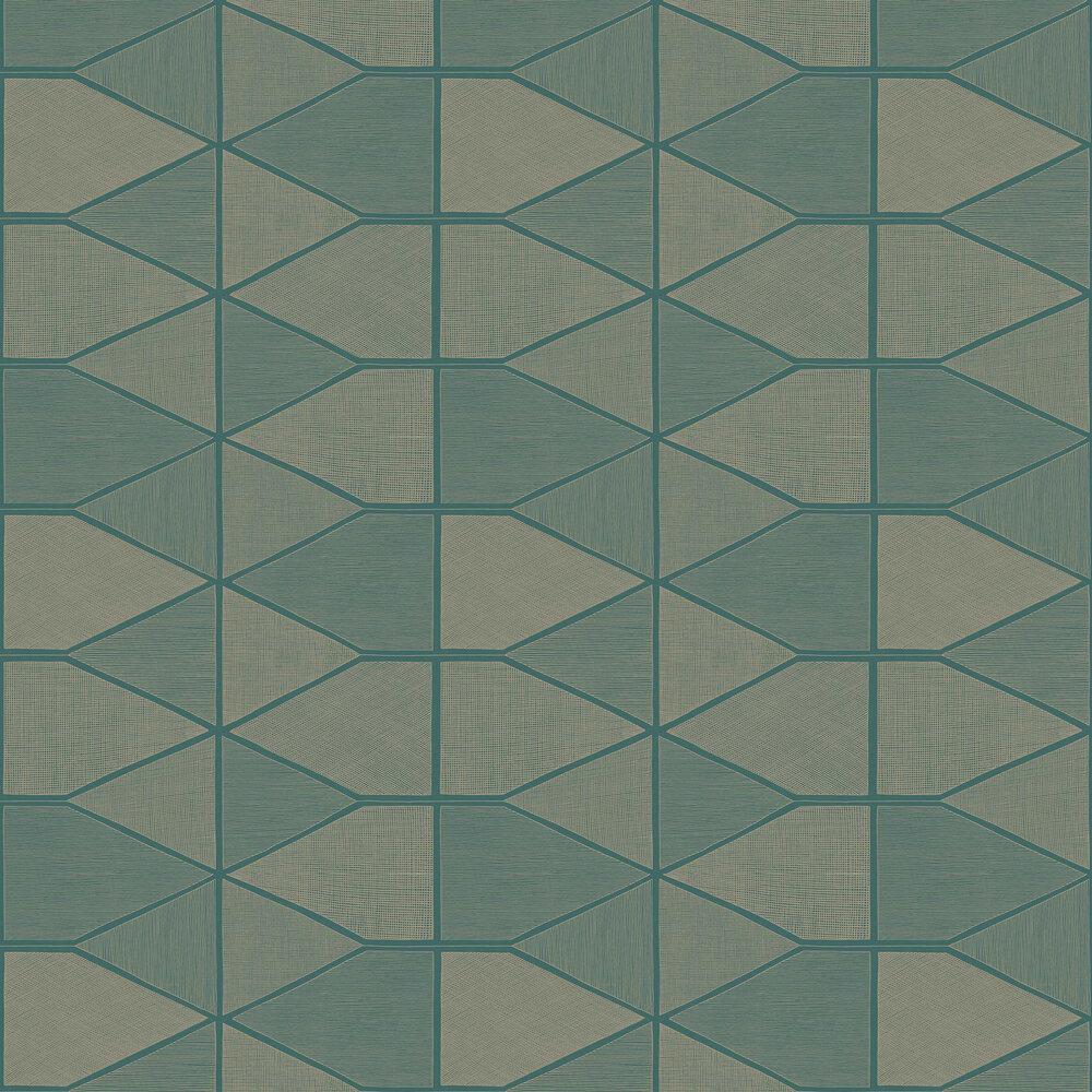 Stella Shine Wallpaper - Green - by Casadeco