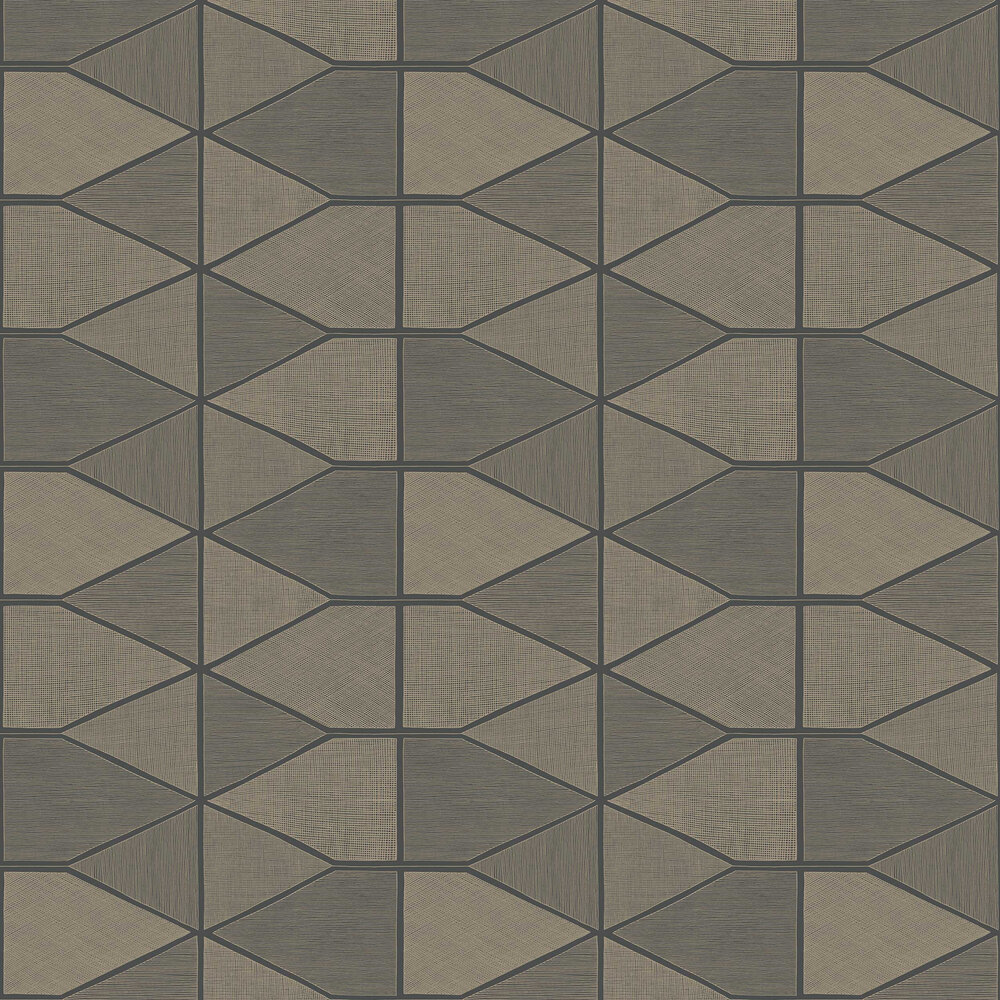 Stella Shine Wallpaper - Grey - by Casadeco