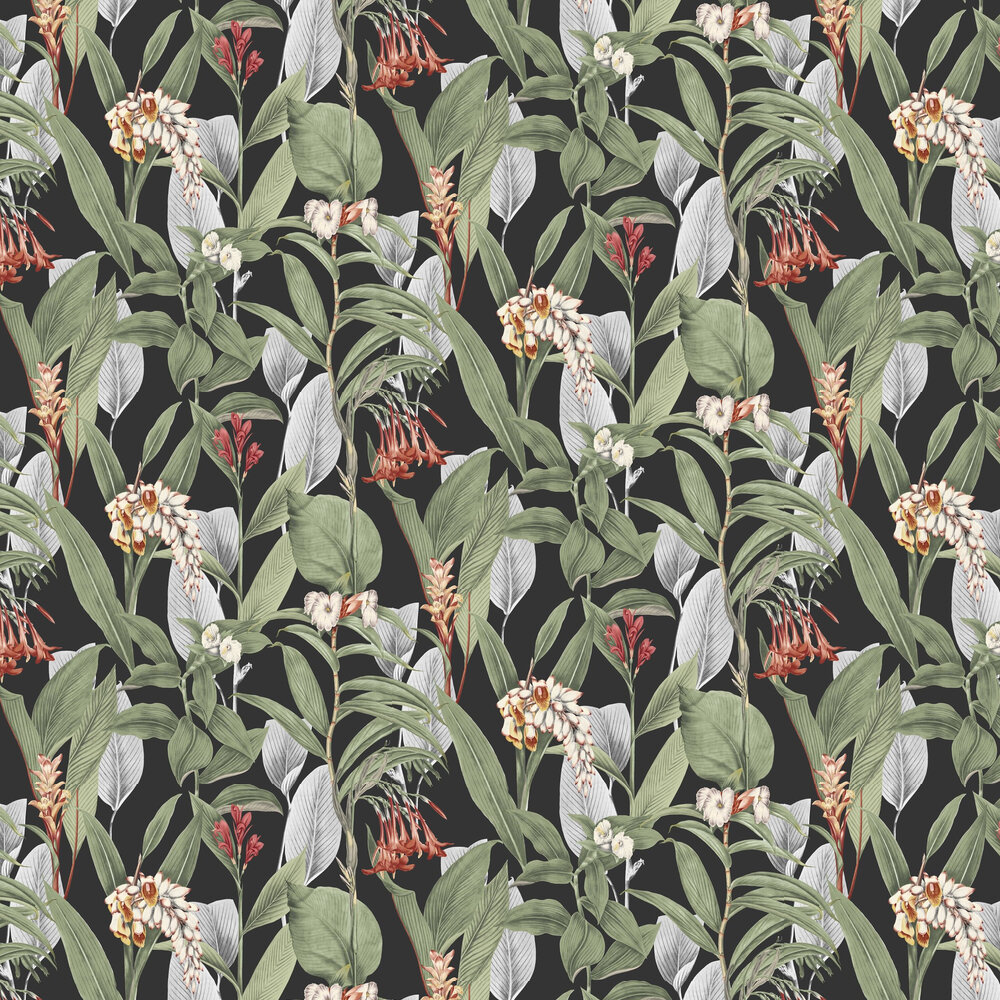 Botanical Wallpaper - Black - by Graham & Brown