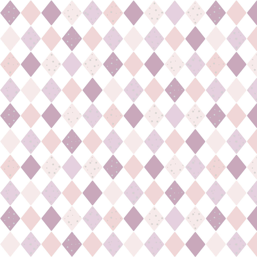 Shine Bright Like a Diamond Wallpaper - Pink and Violet - by Caselio