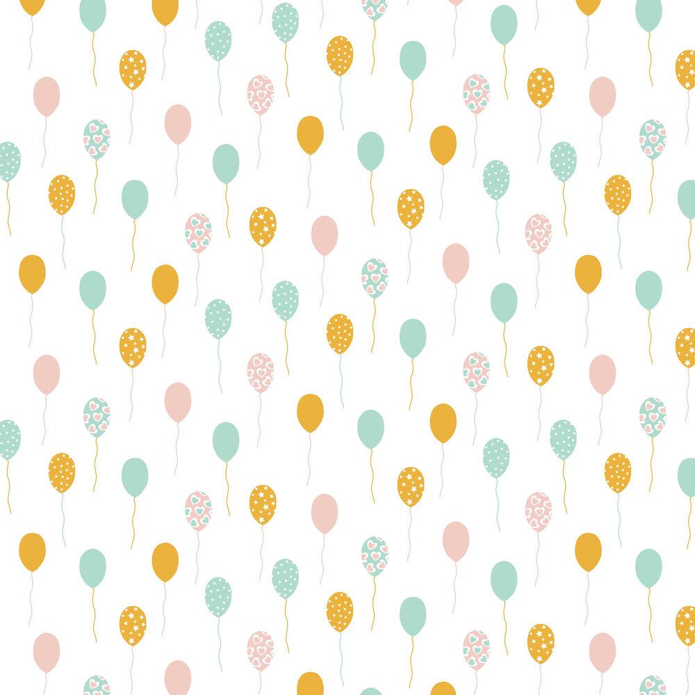 Caselio Party Time Pink and Aqua Wallpaper - Product code: 100862818