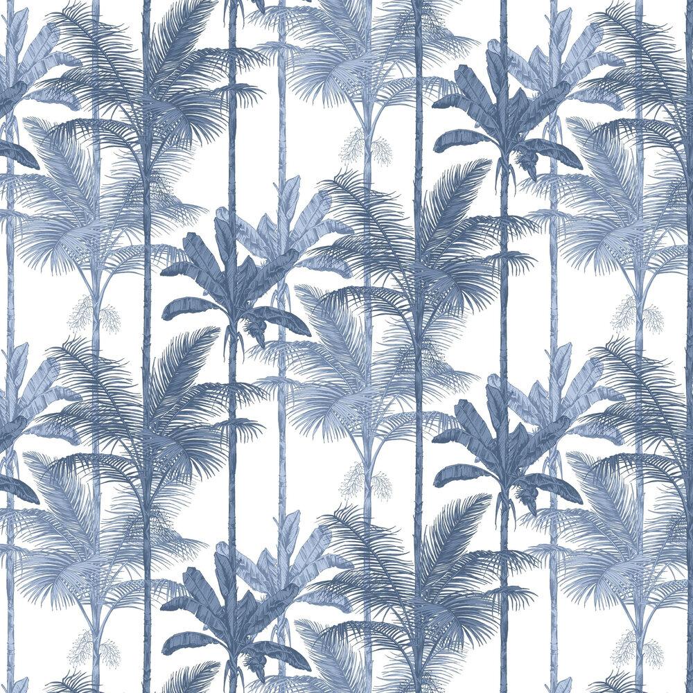 Jungle Wallpaper - Cobalt - by Graham & Brown