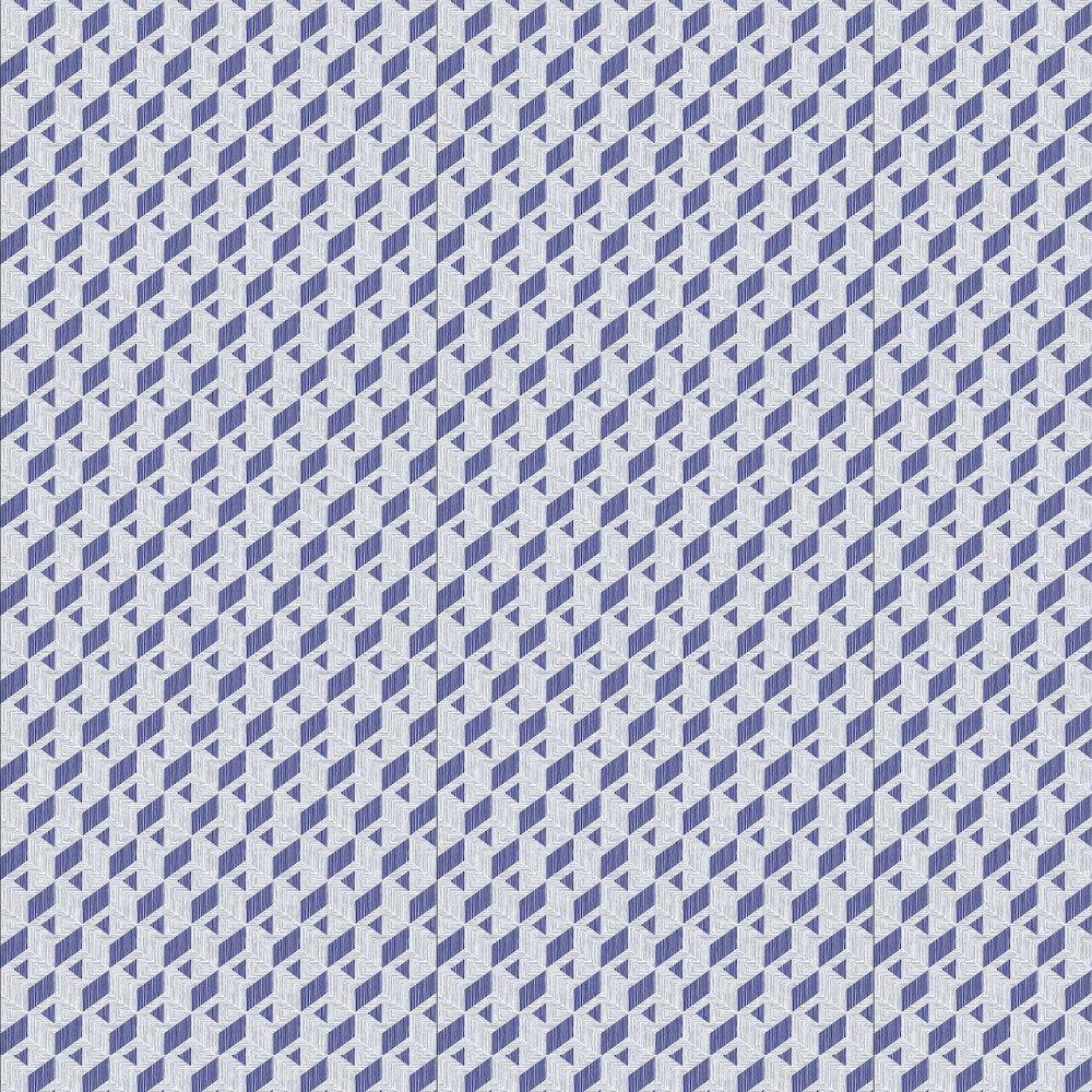 Inca Wallpaper - Navy - by Coordonne
