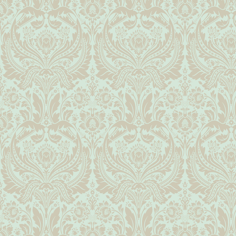 Desire Wallpaper - Mint - by Graham & Brown