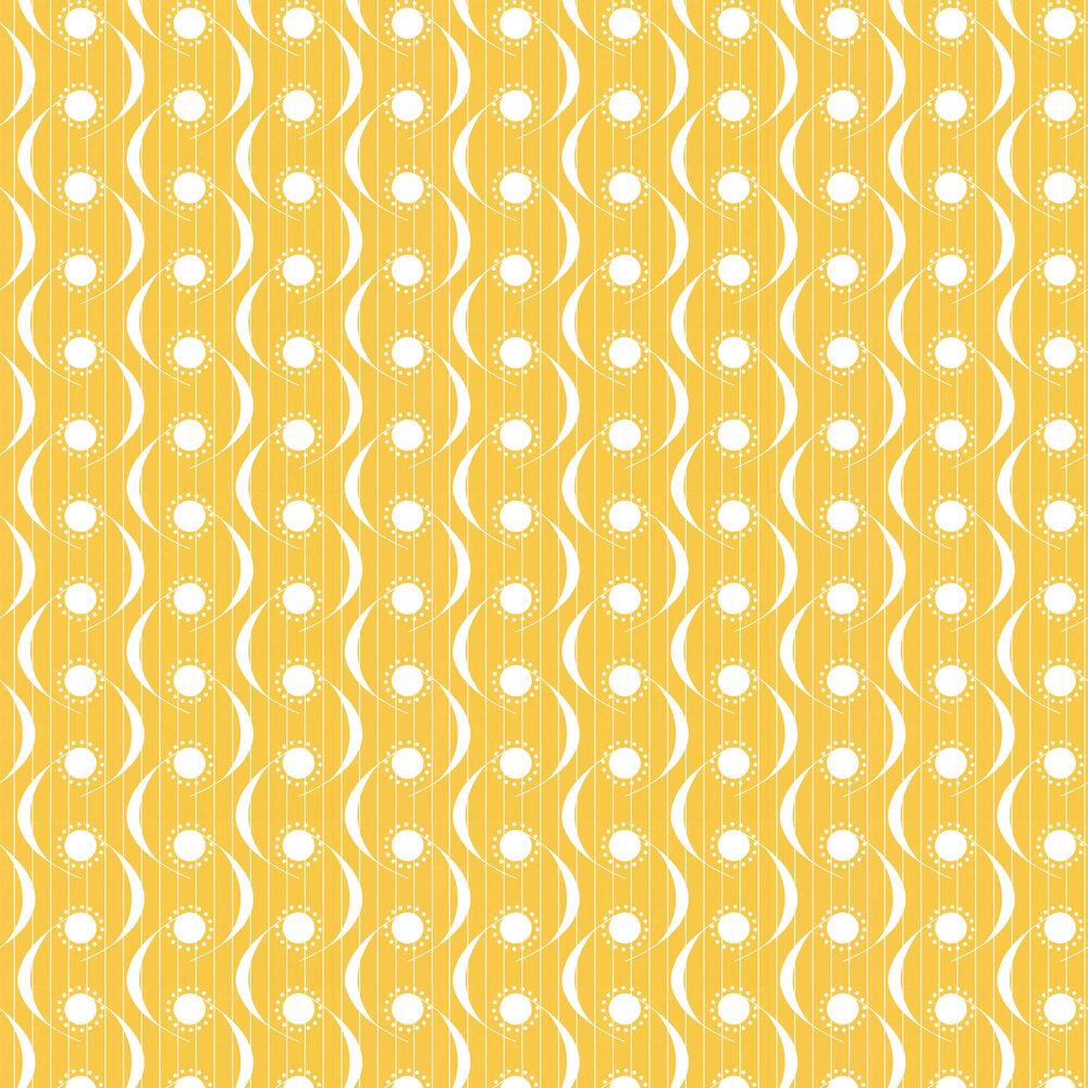 Dot Swish Wallpaper - Mustard - by Layla Faye