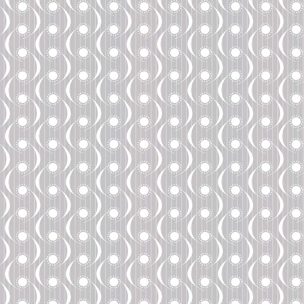 Dot Swish Wallpaper - Pearl Grey - by Layla Faye