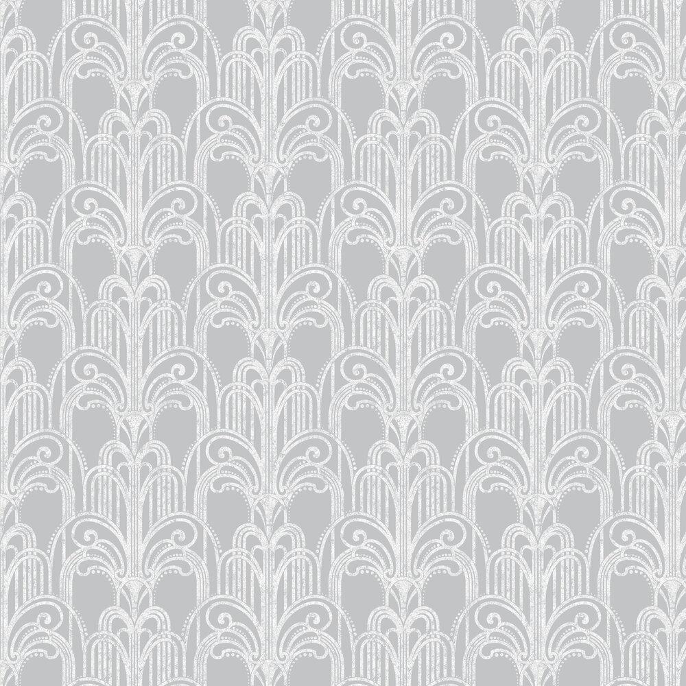 Graham & Brown Art Deco Silver Wallpaper - Product code: 104297
