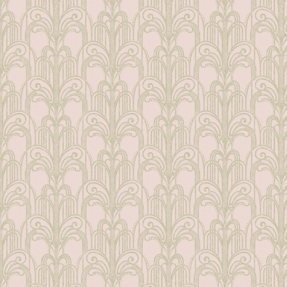 Art Deco Wallpaper - Blush - by Graham & Brown