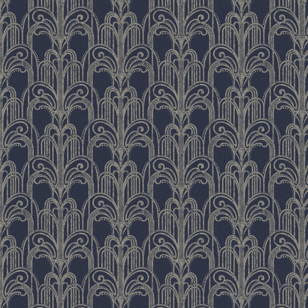 Graham & Brown Art Deco Midnight Wallpaper - Product code: 105920