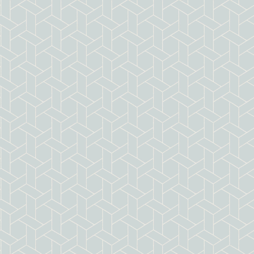 Focale Wallpaper - Blue - by Casadeco