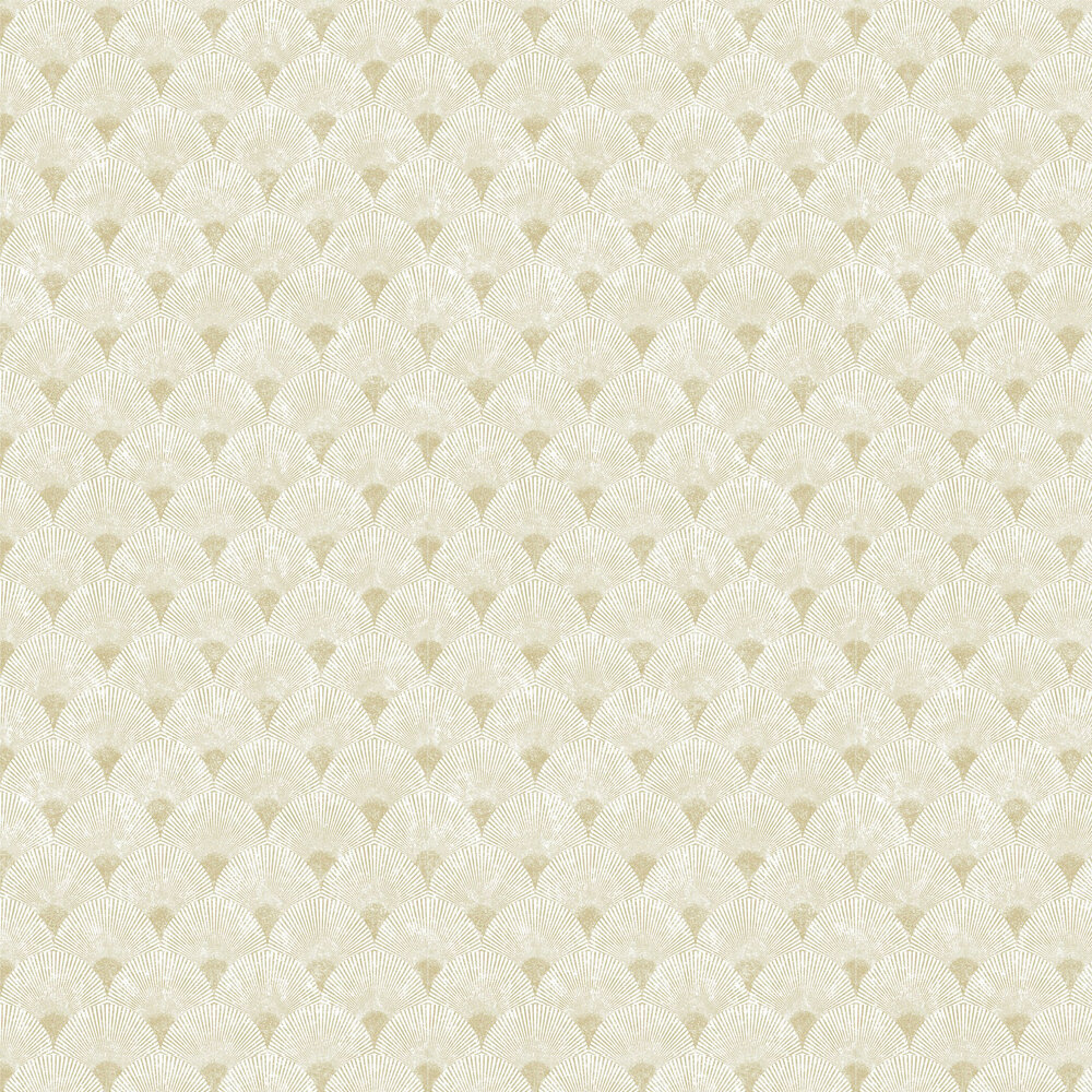 Graham & Brown Fan Gold / Pearl Wallpaper - Product code: 104300
