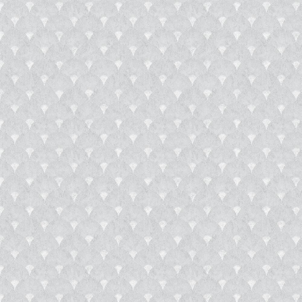 Fan Wallpaper - Silver - by Graham & Brown