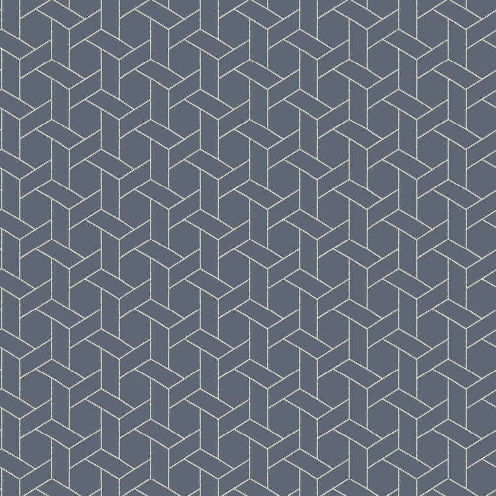 Casadeco Focale Midnight Blue Wallpaper - Product code: 82036319