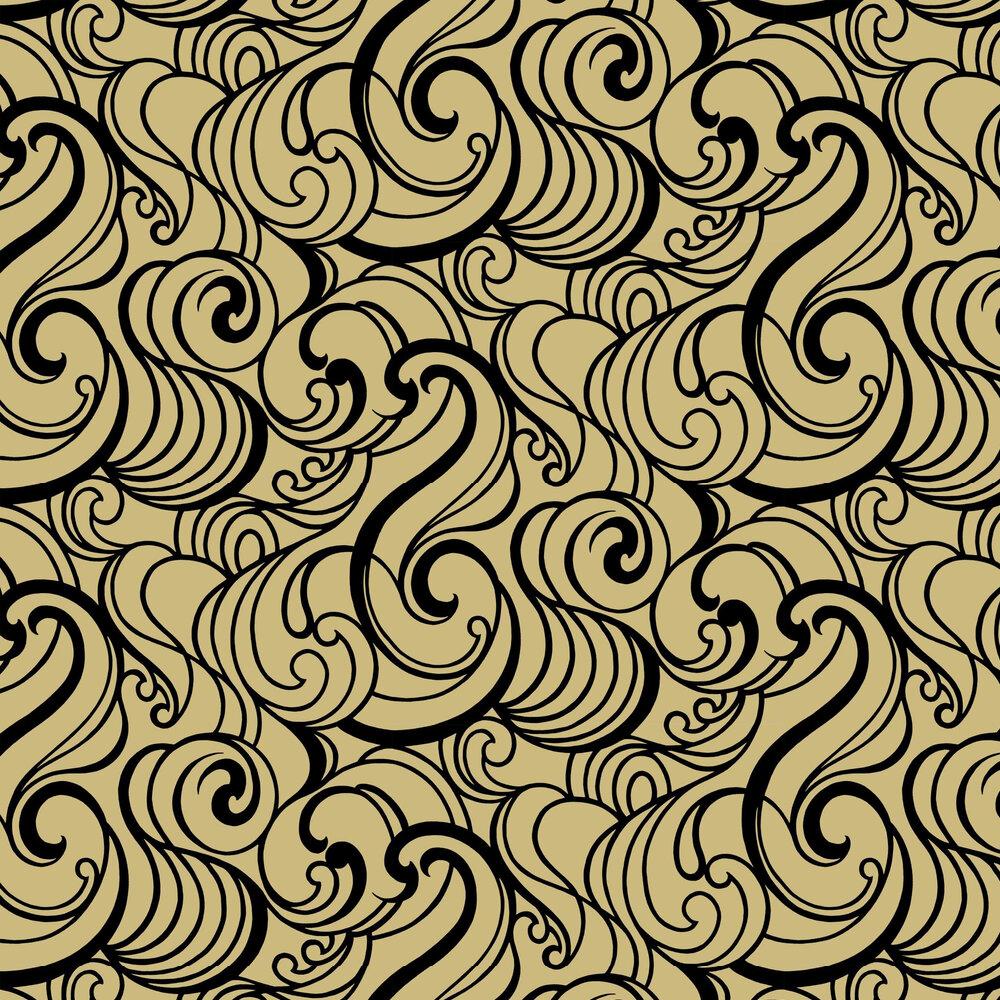 Graham & Brown Hula Swirl Gilded Wallpaper - Product code: 105272