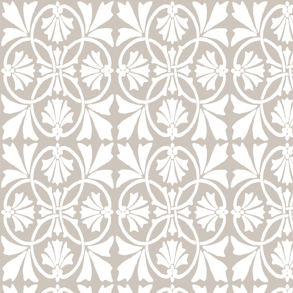 Thrones Wallpaper - Chalk / Taupe - by Graham & Brown