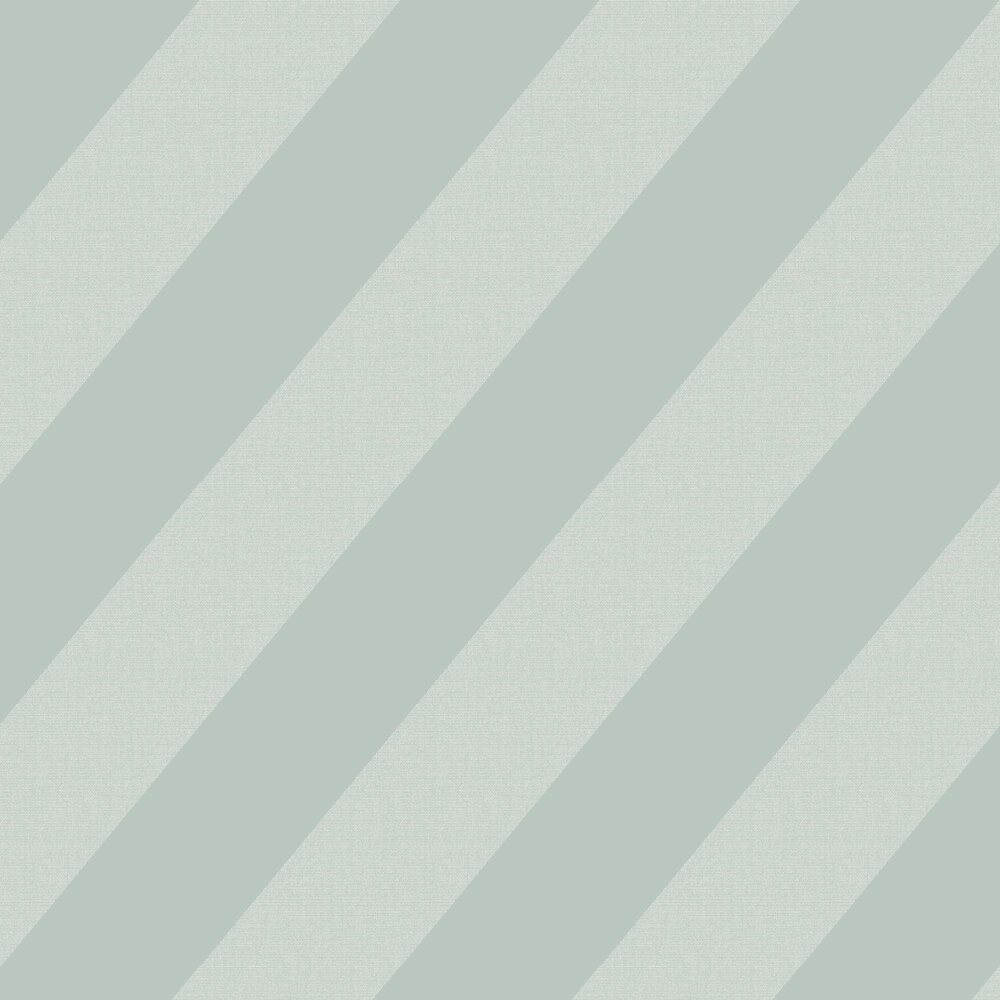 Oblique Wallpaper - Sea Foam Green - by Casadeco