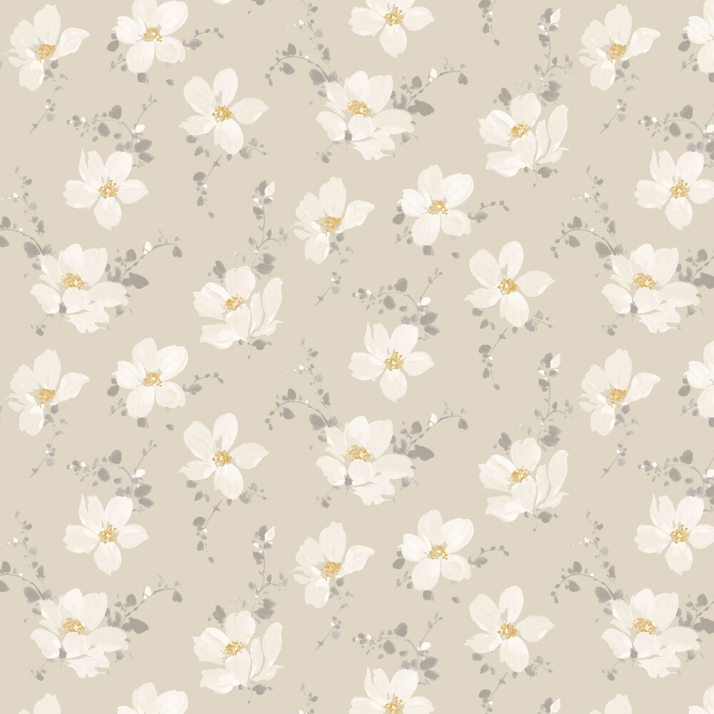 Sabatini Wallpaper - Beige - by Casadeco