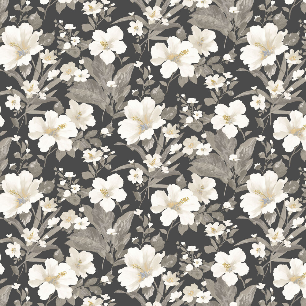 Luxembourg Wallpaper - Charcoal - by Casadeco