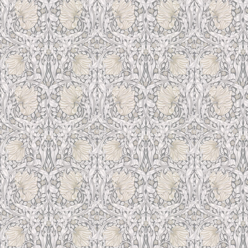 Pimpernel Wallpaper - Linen / Cloud / Grey - by Morris