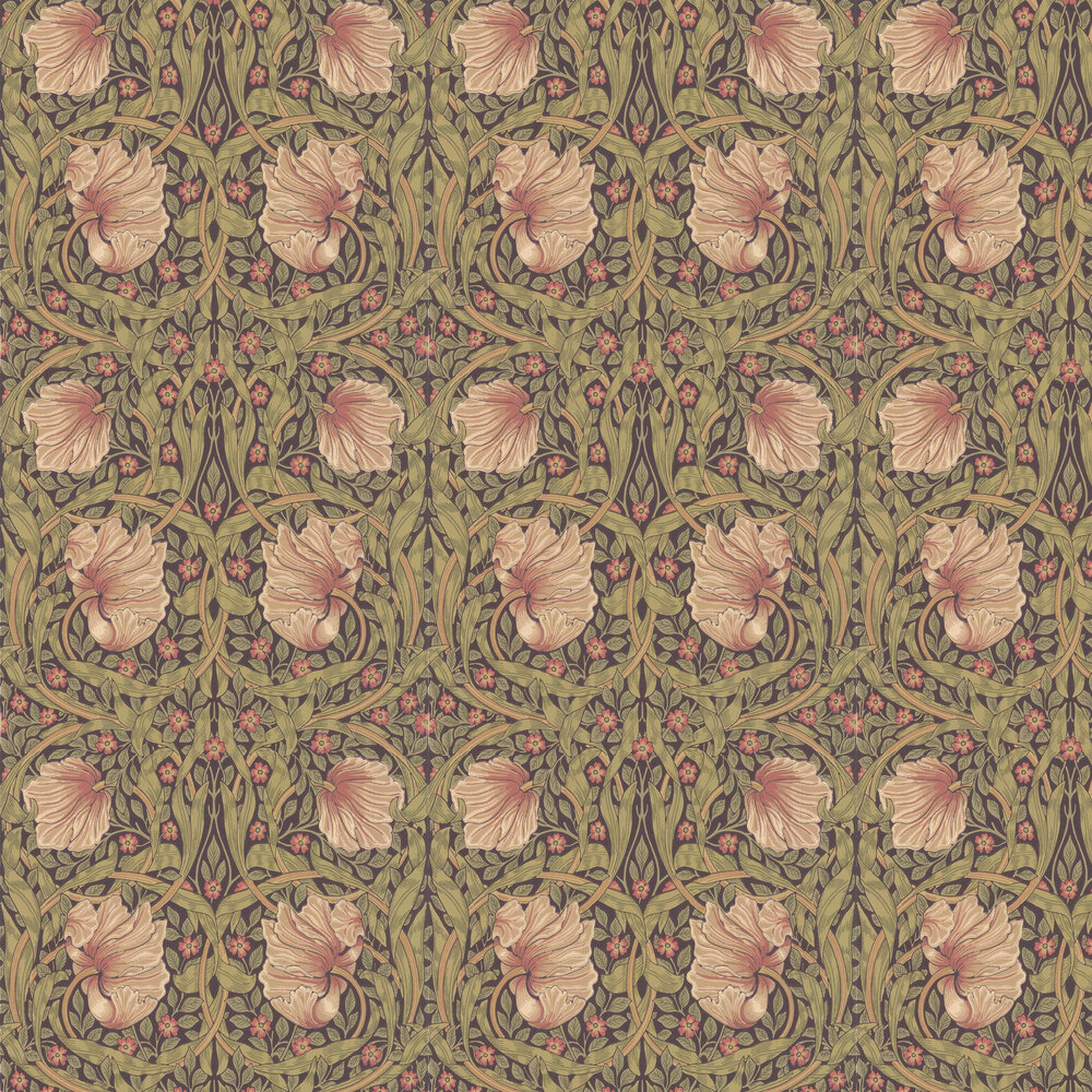 Pimpernel Wallpaper - Bullrush / Russet - by Morris