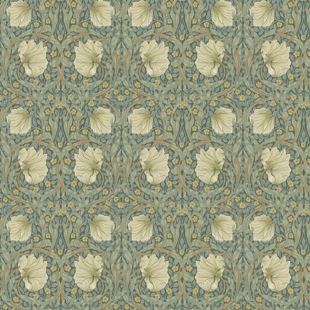 Morris Pimpernel Privet / Slate Wallpaper - Product code: 216731