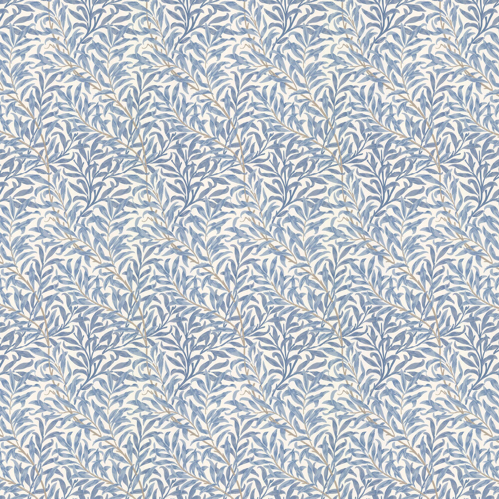 Willow Boughs Wallpaper - Delft / Porcelain - by Morris