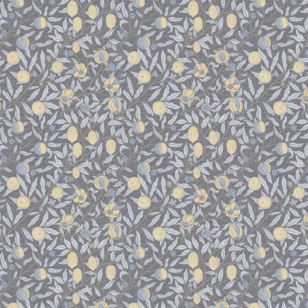 Fruit Wallpaper - Charcoal - by Morris