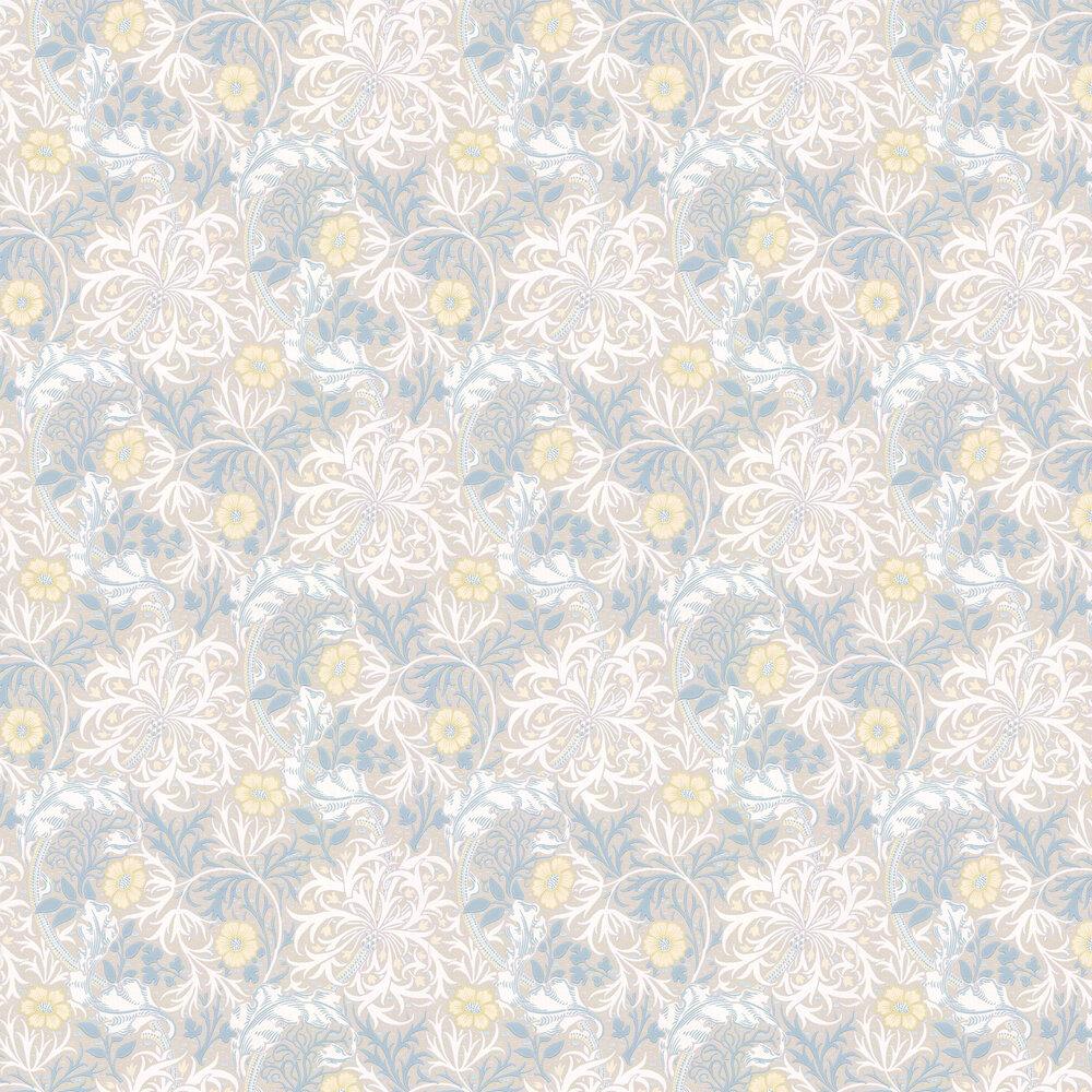Morris Seaweed Wallpaper - Silver / Slate - by Morris
