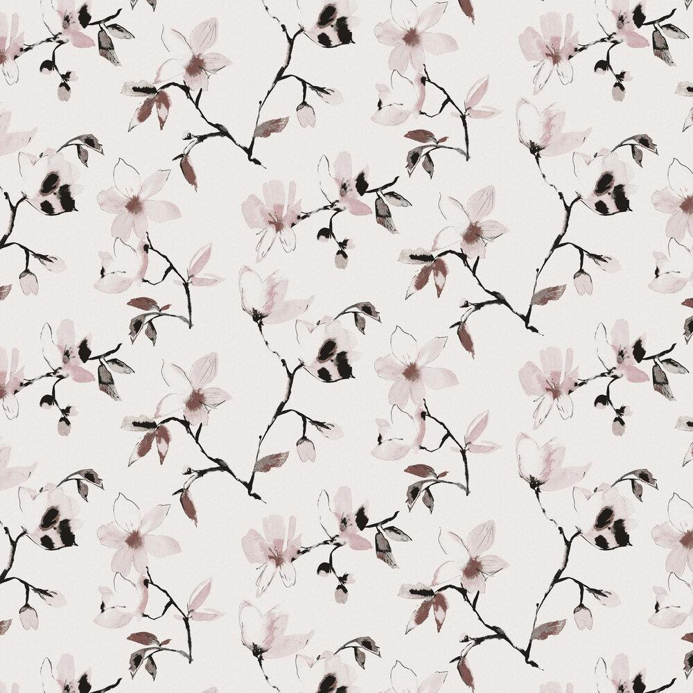 Laetitia Wallpaper - Woodrose - by Zoom by Masureel
