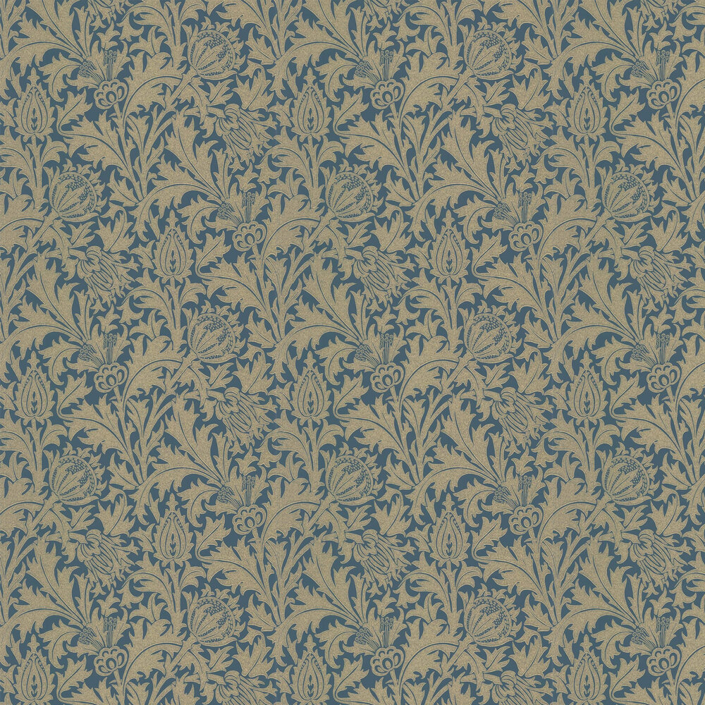 Morris Thistle Newby Green /Gilt Wallpaper - Product code: 216738