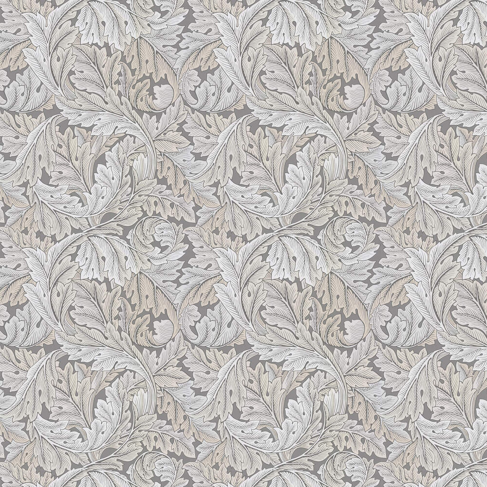 Acanthus Wallpaper - Slate / Pewter - by Morris