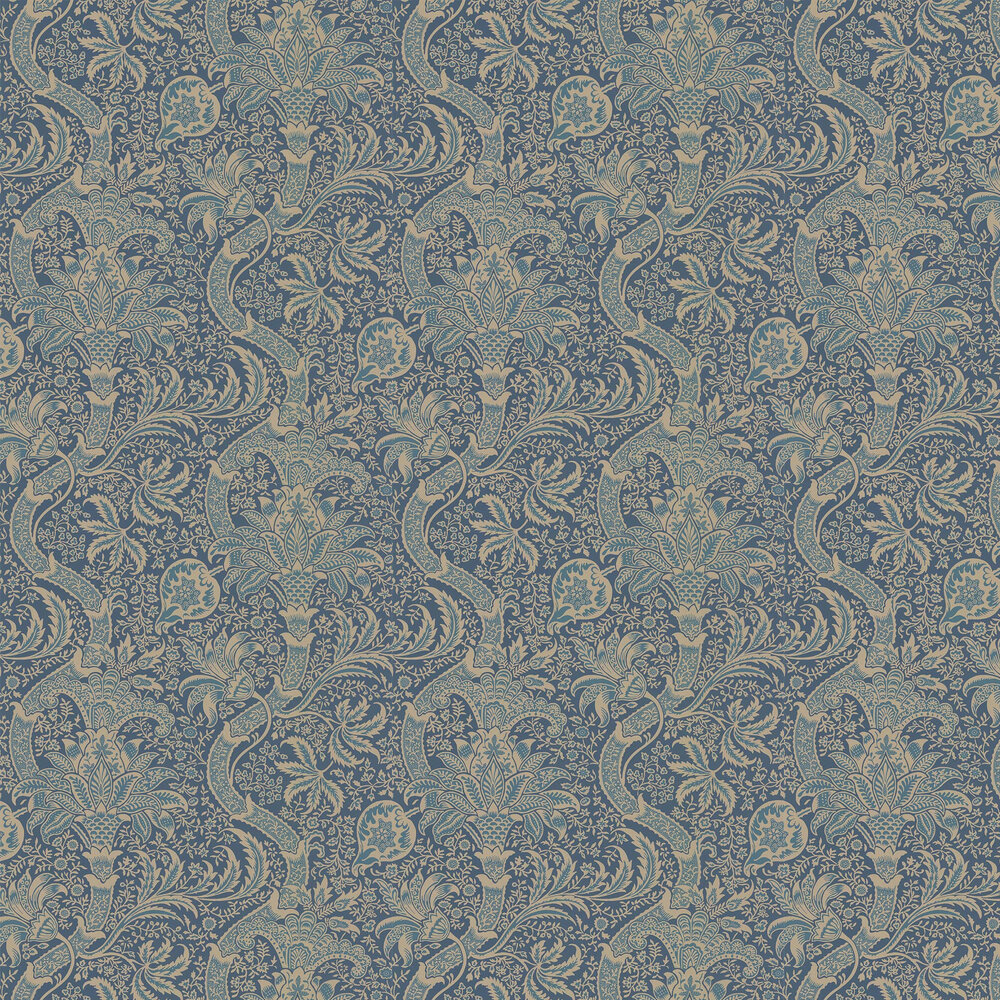 Indian Wallpaper - Peacock - by Morris