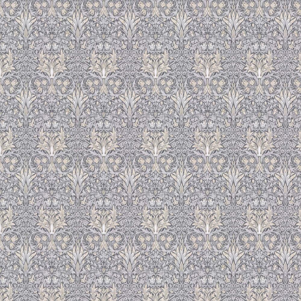 Snakeshead Wallpaper - Slate / Dove - by Morris