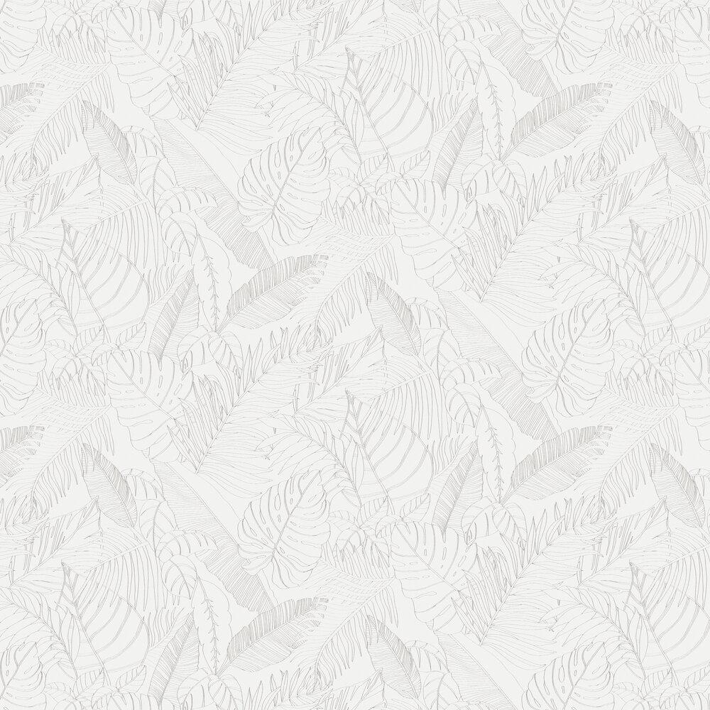 Tahina Wallpaper - Silver - by Zoom by Masureel
