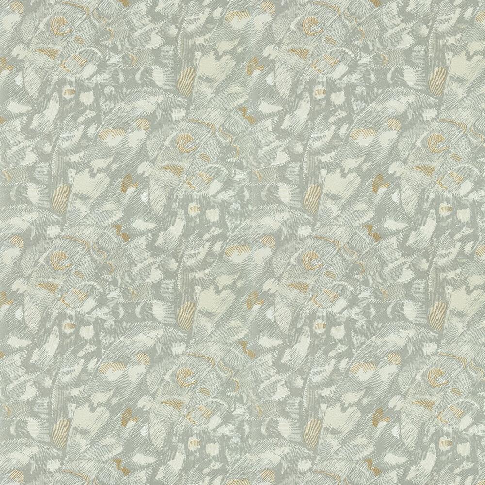 Lamina Wallpaper - Titanium / Oyster - by Harlequin