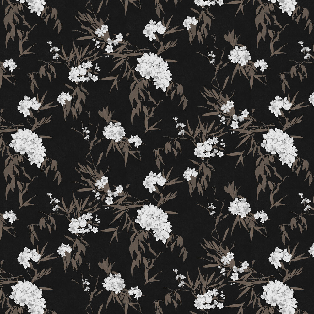 Jelena Wallpaper - Ebony - by Zoom by Masureel