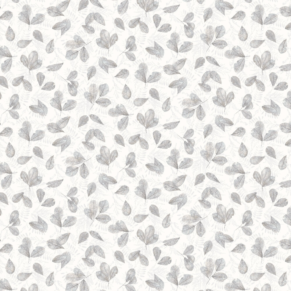 Leaves Wallpaper - Warm Grey - by Galerie