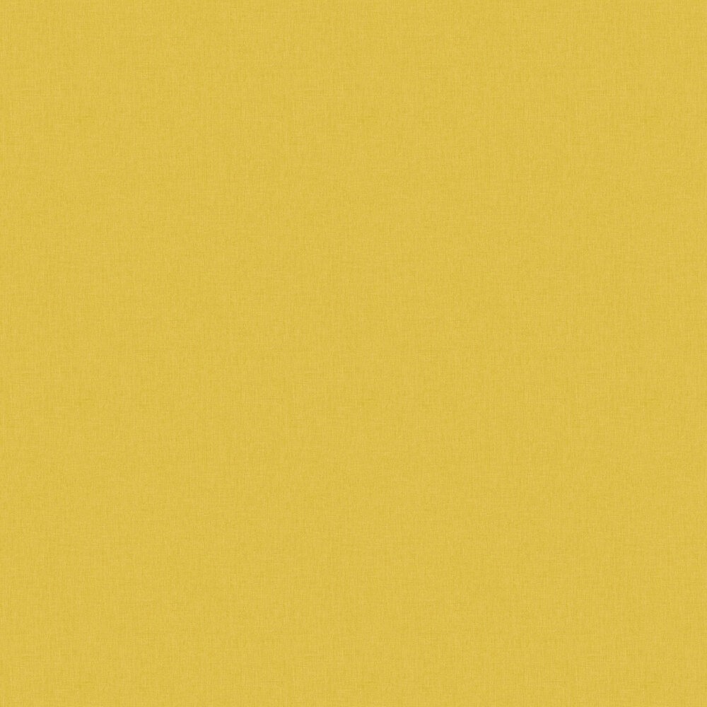 Linen Wallpaper - Dark Yellow - by Caselio
