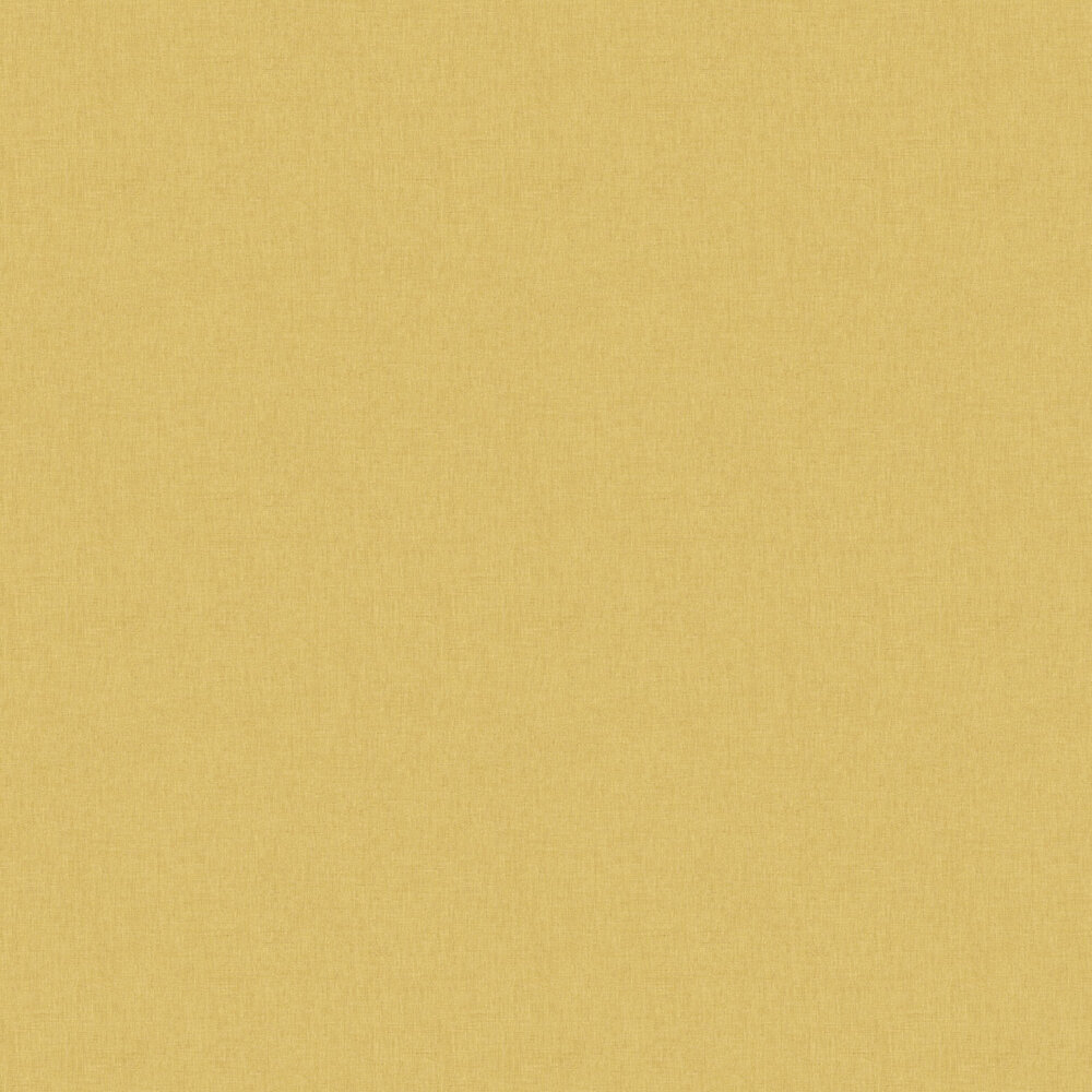 Linen Wallpaper - Yellow / Gold - by Caselio