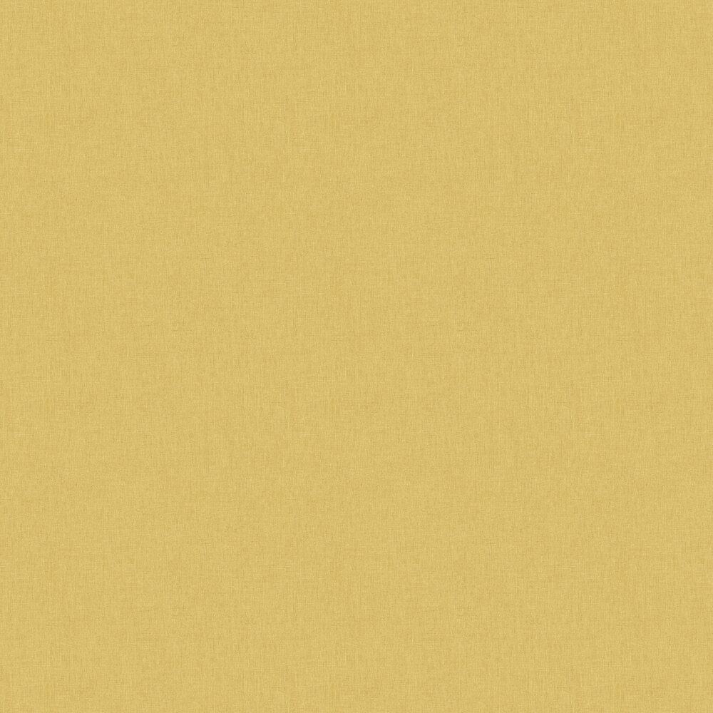 Caselio Linen Yellow / Gold Wallpaper - Product code: LINN68522020