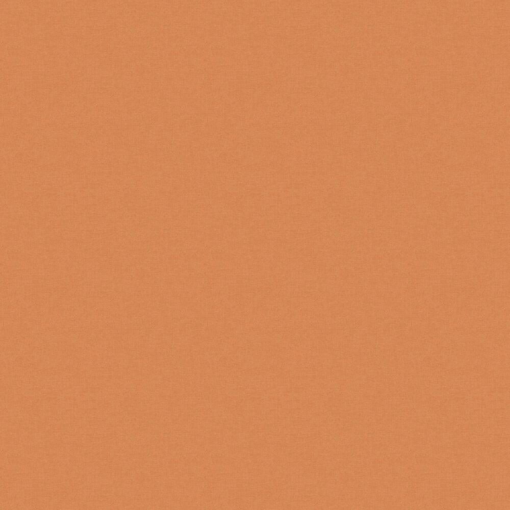 Linen Wallpaper - Dark Orange / Gold - by Caselio