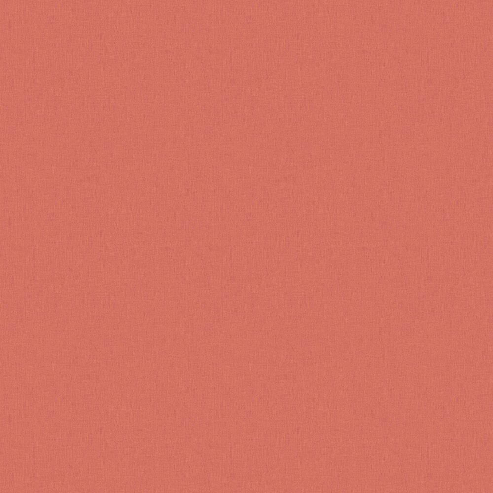 Linen Wallpaper - Coral - by Caselio
