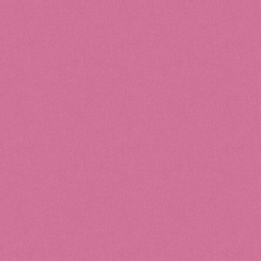 Linen Wallpaper - Dark Pink - by Caselio