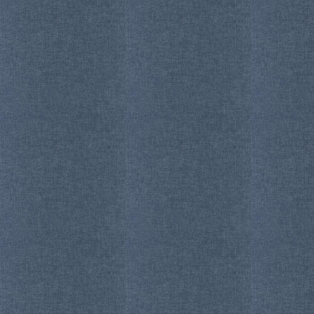 Linen Wallpaper - Medium Blue - by Caselio