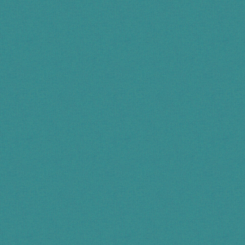 Linen Wallpaper - Dark Turquoise - by Caselio