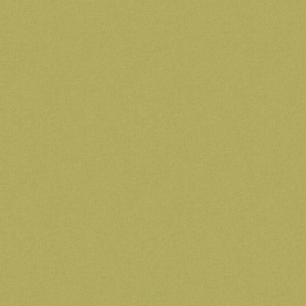 Linen Wallpaper - Green Khaki - by Caselio